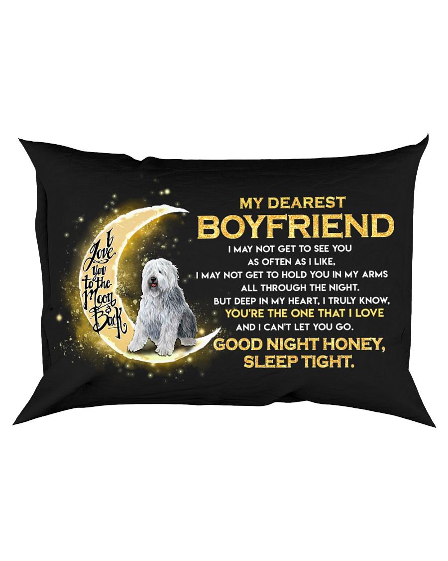 Sheepdog Boyfriend Sleep Tight  Rectangular Pillowcase