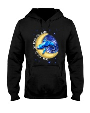 I Love You To The Moon And Back Hippie Hooded Sweatshirt thumbnail