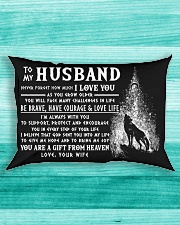Wolf Husband Always With You Rectangular Pillowcase aos-pillow-rectangle-front-lifestyle-5