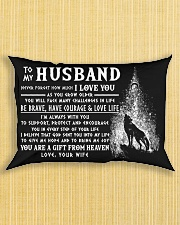 Wolf Husband Always With You Rectangular Pillowcase aos-pillow-rectangle-front-lifestyle-6