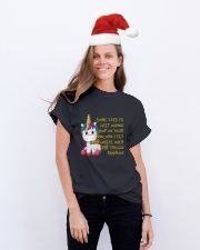 Just Wanna Hop On Your Unicorn Classic T-Shirt lifestyle-holiday-crewneck-front-1
