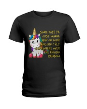Just Wanna Hop On Your Unicorn Ladies T-Shirt thumbnail