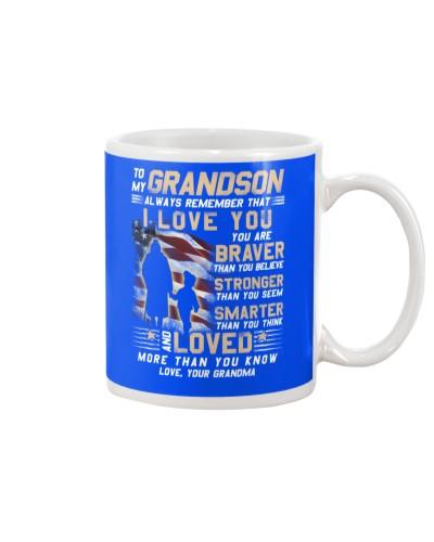 Veteran Grandson Grandma I Love You