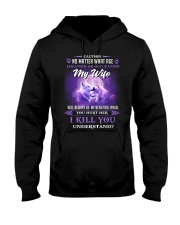 My Wife Will Always Be My Beautiful Angel Wolf Hooded Sweatshirt front