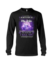 My Wife Will Always Be My Beautiful Angel Wolf Long Sleeve Tee thumbnail