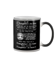 To My Daughter-in-law We Did Not Get To Choose You Color Changing Mug thumbnail