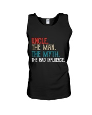 Uncle The Man The Myth The Bad Influence Unisex Tank thumbnail