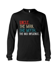 Uncle The Man The Myth The Bad Influence Long Sleeve Tee thumbnail