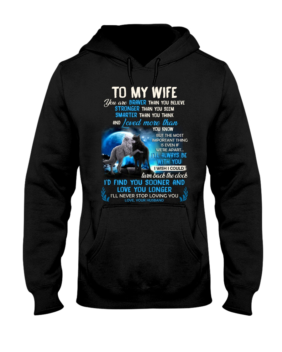 I'll Never Stop Loving You Wolf Hooded Sweatshirt