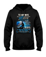 I'll Never Stop Loving You Wolf Hooded Sweatshirt front