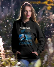 I'll Never Stop Loving You Wolf Hooded Sweatshirt lifestyle-holiday-hoodie-front-5