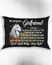 Horse Girlfriend Good Night Baby Sleep Tight  Rectangular Pillowcase aos-pillow-rectangle-front-lifestyle-4
