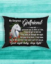 Horse Girlfriend Good Night Baby Sleep Tight  Rectangular Pillowcase aos-pillow-rectangle-front-lifestyle-5