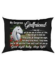 Horse Girlfriend Good Night Baby Sleep Tight  Rectangular Pillowcase back