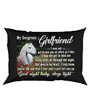 Horse Girlfriend Good Night Baby Sleep Tight  Rectangular Pillowcase front