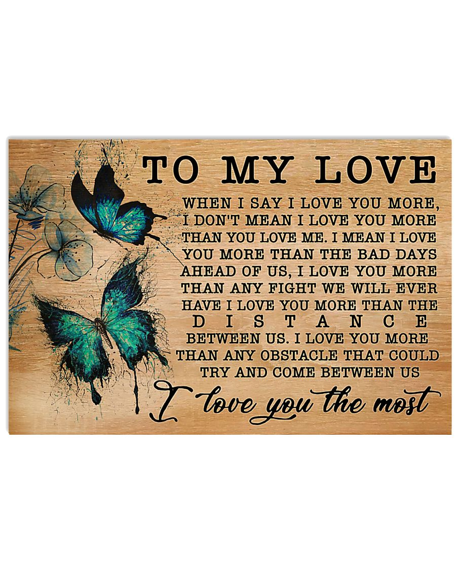 Butterfly I Love You More GG V1 17x11 Poster