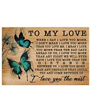 Butterfly I Love You More GG V1 17x11 Poster front