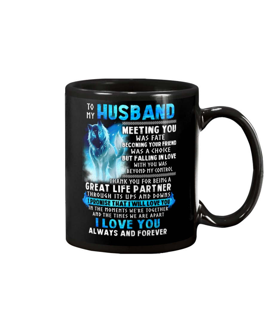 Wolf Husband Ups And Downs Love  Mug