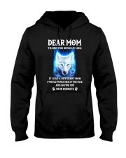 Thanks For Being My Mom Wolf   Hooded Sweatshirt front