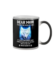 Thanks For Being My Mom Wolf   Color Changing Mug thumbnail