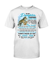 Wolf Walk Out That Door Daughter Classic T-Shirt thumbnail