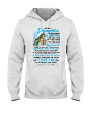 Wolf Walk Out That Door Daughter Hooded Sweatshirt tile