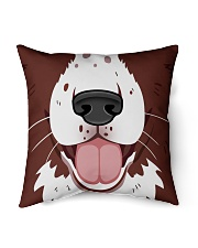 "English Springer Spaniel Mouth Indoor Pillow - 16"" x 16"" thumbnail"