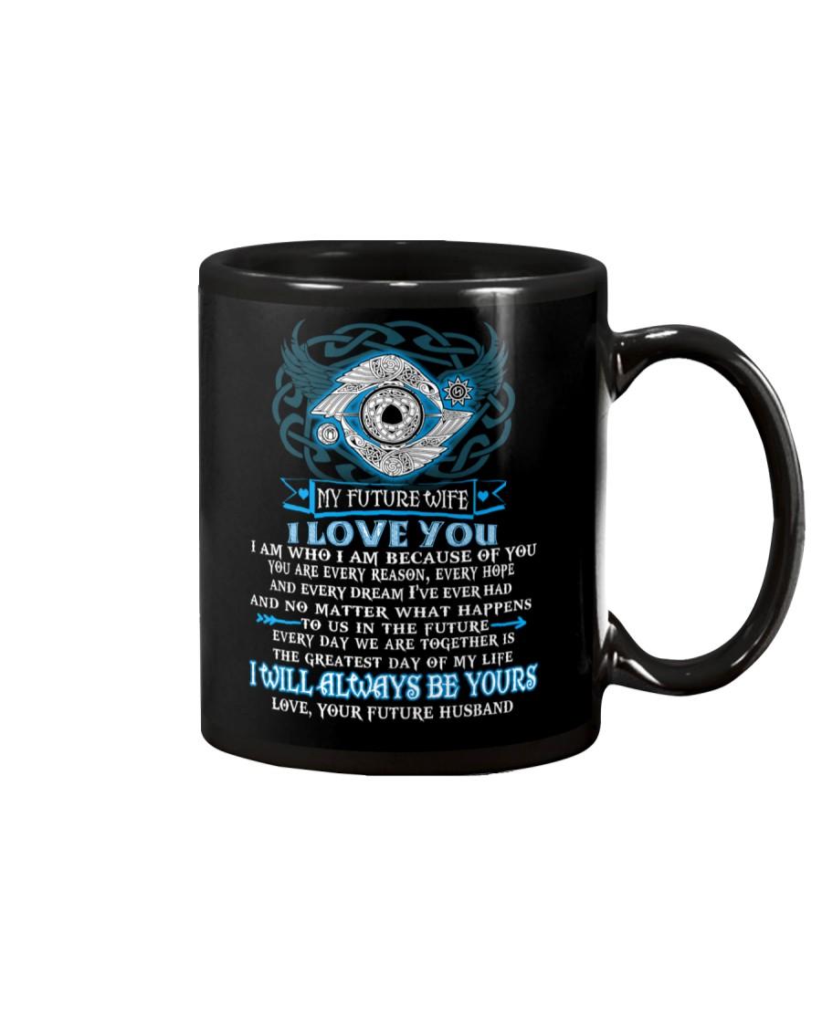 I Am Who I Am Because Of You Viking Wife Mug