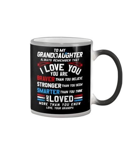 Granddaughter Grandpa I Love You