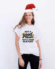 Just A Good Mom With A Hood Playlist Classic T-Shirt lifestyle-holiday-crewneck-front-1