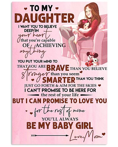 Family Daughter Mom Braver Smarter My Baby Girl P