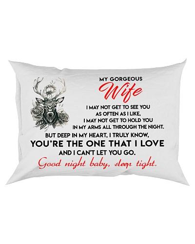 Hunting Wife Good Night Sleep Tight Pillow