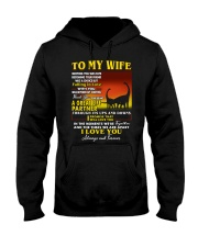 Dinosaur Wife Ups And Downs Love  Hooded Sweatshirt thumbnail
