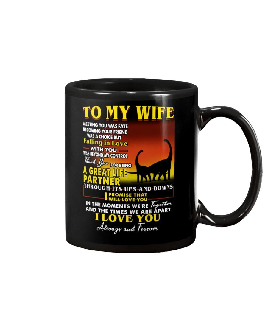 Dinosaur Wife Ups And Downs Love  Mug