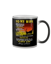 Dinosaur Wife Ups And Downs Love  Color Changing Mug tile