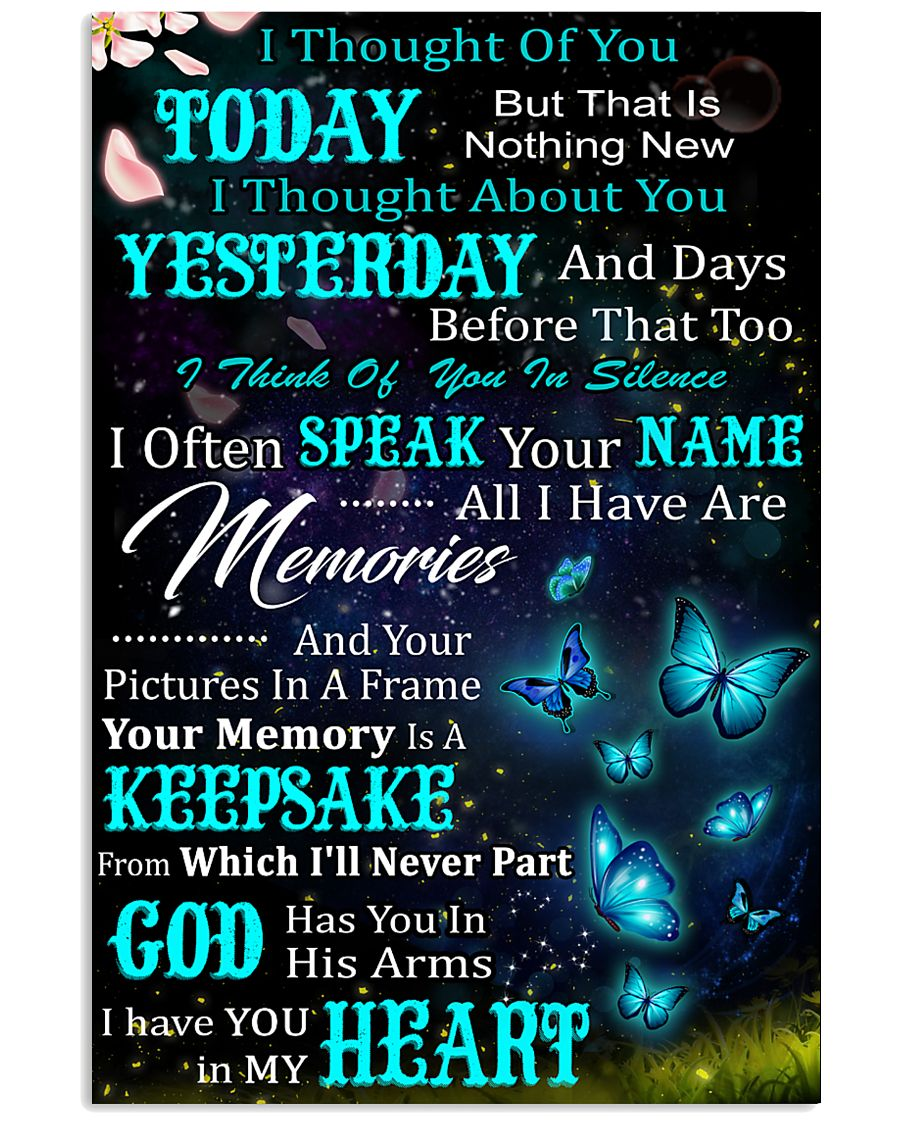 I Thought Of You Today Butterfly  11x17 Poster