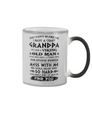 Viking Old Man Grandpa  Color Changing Mug color-changing-right
