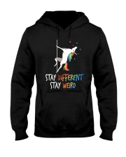 Stay Different Stay Weird Unicorn Hooded Sweatshirt thumbnail