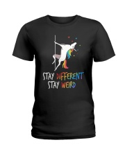 Stay Different Stay Weird Unicorn Ladies T-Shirt thumbnail