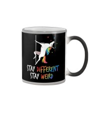 Stay Different Stay Weird Unicorn Color Changing Mug thumbnail
