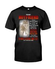 Wolf Distance Is Hard Boyfriend Classic T-Shirt thumbnail