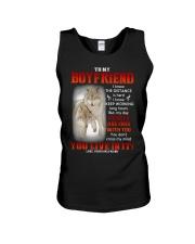 Wolf Distance Is Hard Boyfriend Unisex Tank thumbnail