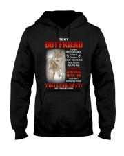 Wolf Distance Is Hard Boyfriend Hooded Sweatshirt thumbnail