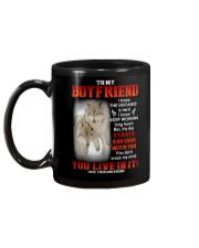 Wolf Distance Is Hard Boyfriend Mug back