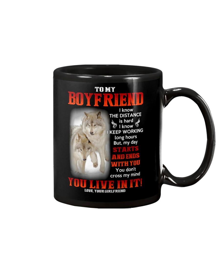 Wolf Distance Is Hard Boyfriend Mug