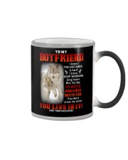 Wolf Distance Is Hard Boyfriend Color Changing Mug thumbnail