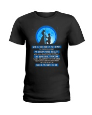 She is The Fire In My Heart Fishing Ladies T-Shirt thumbnail