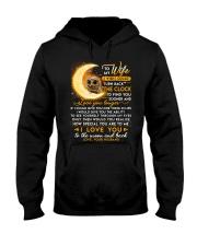 Owl Wife Clock Ability Moon Hooded Sweatshirt thumbnail