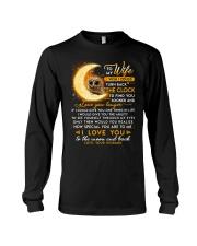 Owl Wife Clock Ability Moon Long Sleeve Tee thumbnail