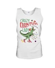 Crazy Christmas Lady Dinosaur Unisex Tank thumbnail